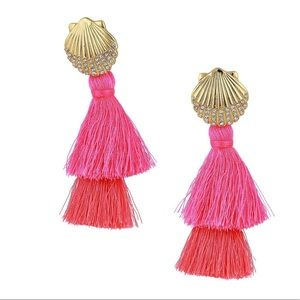 Lilly Pulitzer Pink Shell Ya Earrings